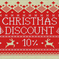Christmas Sale: Discount 10% (Scandinavian pattern) Royalty Free Stock Photos