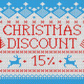 Christmas Sale: Discount 15% (Scandinavian pattern) Royalty Free Stock Images