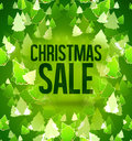 Christmas sale green trees Royalty Free Stock Photo