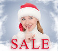 Christmas Sale and happy young woman Stock Images