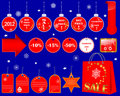 Christmas Sale icons. Stock Image