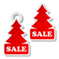 Christmas Sale Label Stock Photos