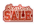 Christmas sale label classic red Stock Image