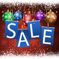 Christmas sale notice winter holiday of and new year sales Stock Image