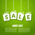 Christmas sale poster template. Xmas sale background. Winter holiday discount Royalty Free Stock Photo