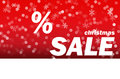 Christmas sale red background new year Stock Photo