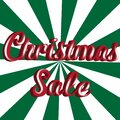 Christmas sale red green sign banner template Royalty Free Stock Photo