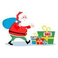 Christmas sale Santa