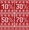 Christmas sale seamless knitted pattern Royalty Free Stock Photography