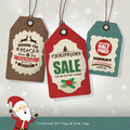 Christmas sale tags gift Stock Photo