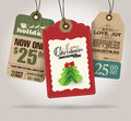 Christmas sale tags price Royalty Free Stock Photo