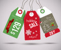 Christmas sale tags vector illustration Royalty Free Stock Photo