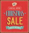 Christmas sale typographic design.