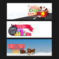 Christmas Sale web header or banner set. Royalty Free Stock Photo