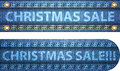 Christmas sale words on blue jeans background Stock Photography
