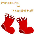 Christmas Santa boots card Royalty Free Stock Photo