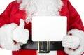 Christmas  Santa With A Card