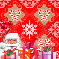 Christmas. Santa Claus with gifts. Royalty Free Stock Images