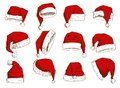 Christmas Santa Claus hat vector noel isolated illustration New Year Christians Xmas party design decoration hat element Royalty Free Stock Photo