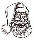 Christmas Santa Claus Vintage Woodcut Style Royalty Free Stock Photo
