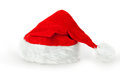 Christmas or santa hat single red claus isolated on white background Royalty Free Stock Image