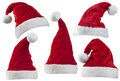 Christmas Santa Hats Royalty Free Stock Photo
