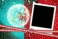 Christmas santa instant photo frame for children elf Stock Image