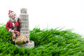 Christmas santa with the leaning tower of pisa Stock Photos