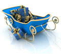 Christmas Santa sledge Royalty Free Stock Images