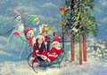 Christmas santas Royalty Free Stock Images