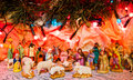 Christmas scene of bethlehem jesus is born decoration religious miracle Royalty Free Stock Images