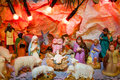 Christmas scene of bethlehem jesus is born decoration religious miracle Stock Image
