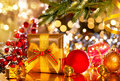 Christmas scene. Gifts under the Christmas tree Royalty Free Stock Photo