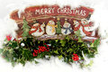 Christmas scene merry decorations Royalty Free Stock Images