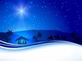Christmas scene on sky background Royalty Free Stock Photo