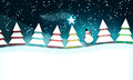 Christmas scene with snowman Royalty Free Stock Photo