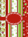 Christmas scrap book background with border Stock Images