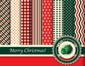 Christmas scrapbooking retro tones Royalty Free Stock Image