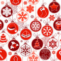 Christmas seamless background with balls Royalty Free Stock Photo