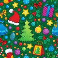 Christmas seamless background eps vector illustration Stock Photography