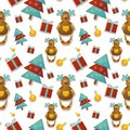 Christmas seamless background great choice for wrapping paper pattern Royalty Free Stock Photo