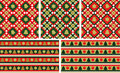 Christmas seamless backgrounds set Stock Image