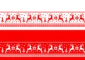 Christmas seamless banners - cdr format Royalty Free Stock Photo