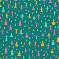 Christmas seamless pattern Stock Images
