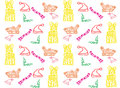 Christmas seamless pattern background with gift and accessories Royalty Free Stock Photo