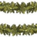 Christmas seamless pattern background. Spruce green garland isolated on white background. New Year