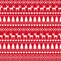 Christmas seamless pattern, card - Scandinavian sweater style. Royalty Free Stock Photo
