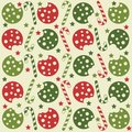 Christmas seamless pattern with cookies and candy canes