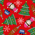 Christmas seamless pattern elements Stock Images