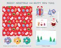 stock image of  Christmas seamless pattern. Good for wrapping that can later be reused for cutting decoration and for your creative ideas.